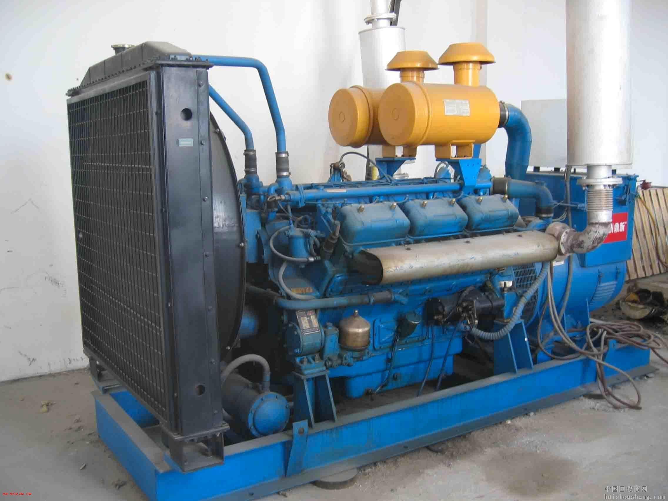 聊城蓝色二手发电机出售